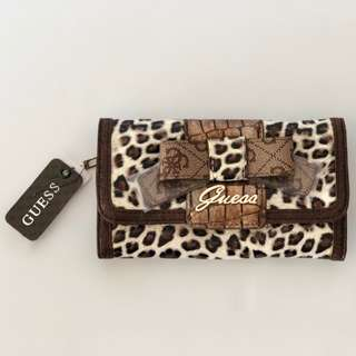 Guess Laurita Animal Print French Purse Wallet - Brand New