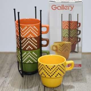 5 pc Gallery Countertop mug set