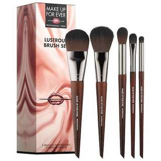 BNIB Authentic Make Up For Ever Lustrous Brush Set