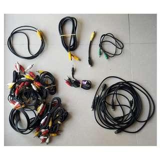 手提 電話 電腦 耳擴 接線 computer, mobile, connection wires connectors