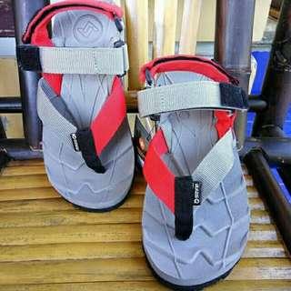 Sandal Gunung Suzuran Extreme x Mr1 Grey w Grey Red