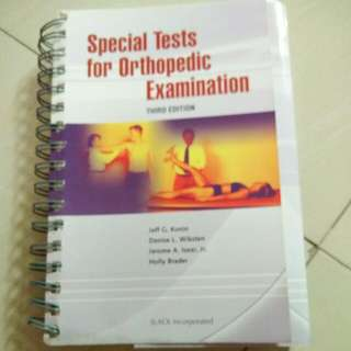 SPECIAL TESTS BOOK FOR ORTHO AND PHYSICAL THERAPY