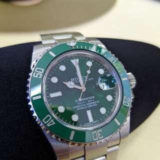 Rolex 綠鬼 Submariner,08/15 入手。