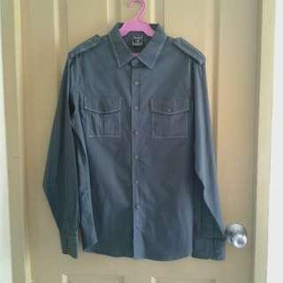 Irreverent gray l/s shirt
