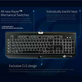 *PRICE REDUCED* Razer BlackWidow Ultimate Stealth Counter Logic Gaming Edition CLG