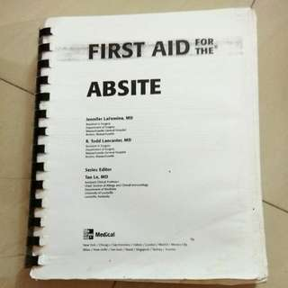 FIRST AID ABSITE SURGERY