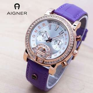 (New) Aigner Diamond Purple
