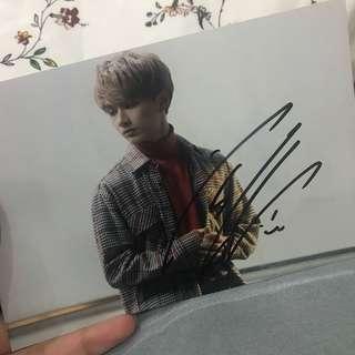 Seventeen Jun Signed photo