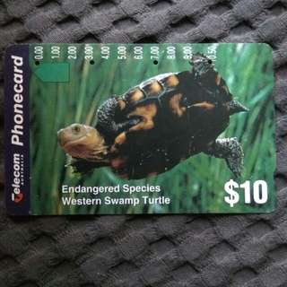 Endangered Species - rare Australia phonecard