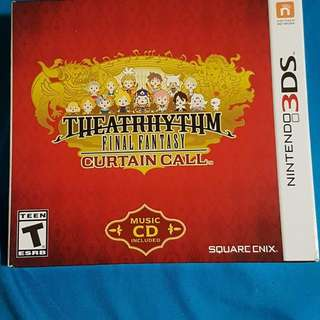 Nintendo 3DS Final Fantasy Theatre Rhythm Curtain Call with music CD