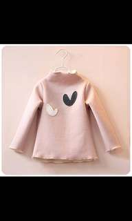 Winter warm long sleeve girls size 95-100