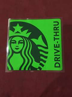 Starbucks Car Sticker 10% off