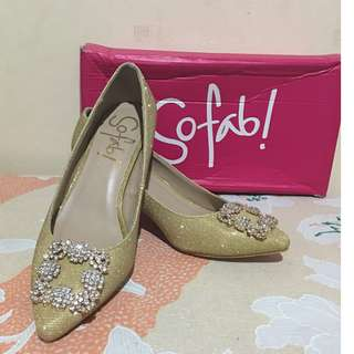 Authentic SO FAB! Glittered Pumps Shoes