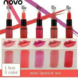 Novo lipstick mini isi 5pc
