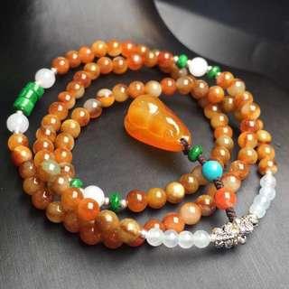 天然緬甸紅翡手鍊項鍊
