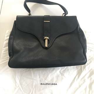 Balenciaga black top handle/shoulder bag