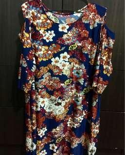 Floral Dress off shoulder dress