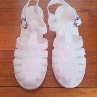 White Jelly Heels