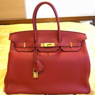 Preloved Hermes Birkin 35 Red