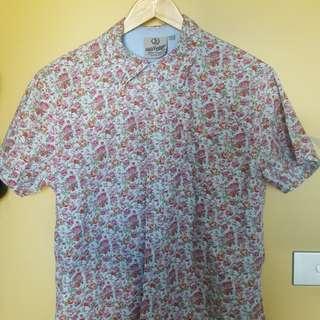 Vintage Floral Short Sleeve Shirt