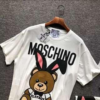 Moschino x playboy Tee unisex XS~L t shirt