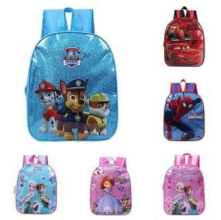 Cartoon Characters School Bag