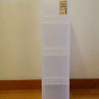 無印良品 PP 整理盒 附輪 4層 收納