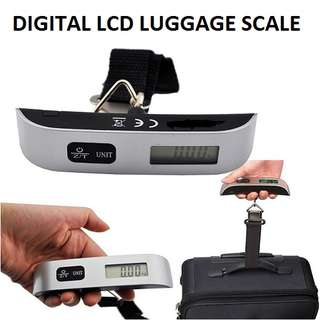 Digital LCD Luggage Weighing Scale Electronic Travel Hook up to 50kg