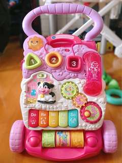 Vtech first steps baby walker粉紅學步車