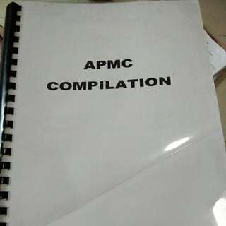 APMC COMPILATION QUESTIONS WITH ANSWERS