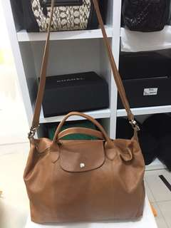 longchamp cuir camel large (like new)