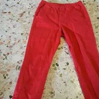 Preloved Uniqlo red pant