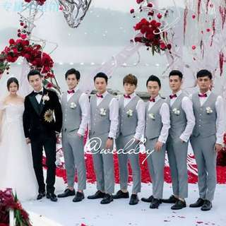 Groomsmen Grey Vest Set Wedding Gatecrash #budgetwedding