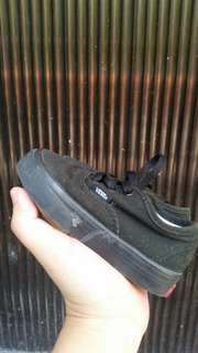 Toddlers Authentic Vans in Black