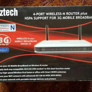 Aztech 300Mbps HW550-3G wireless-N + HSPA 3G router
