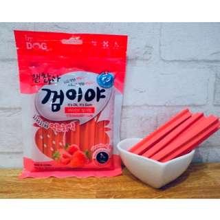 *狗癮*韓國Ocean純天然寵物潔牙骨(草莓) 共有三種口味 1包100g