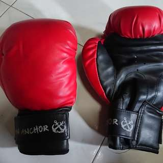 Boxing gloves(anchor beer red)