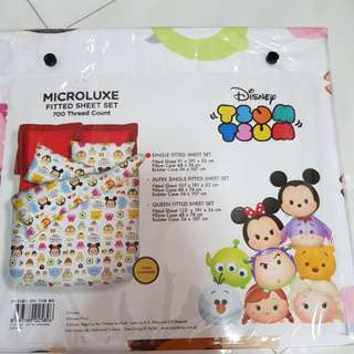 Tsum Tsum Single fitted bedsheet set