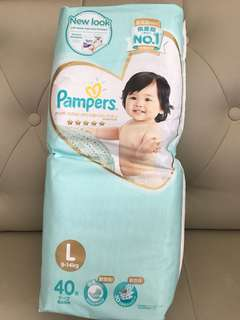 Pampers Premium Care Diapers Tape L