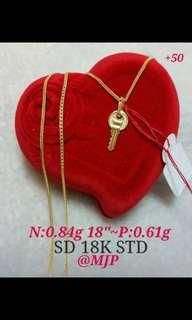 Saudi Gold Necklace 18k