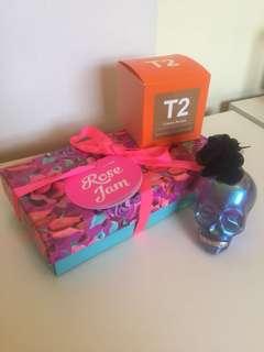 Rose Jam Body Lotions, Police Fragrance, T2 Creme brûlée [BUNDLE]