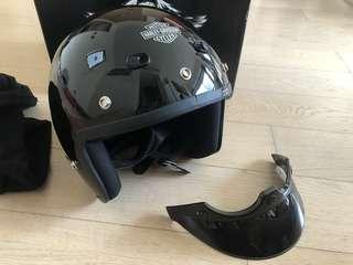 Harley Davidson 3/4 Helmet(gross black)