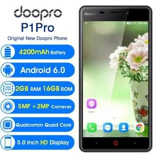 Doopro P1 Pro 4G Mobile Phone 5.0 Inch HD Qualcomm MSM8909 Quad Core Android 6.0 2GB RAM 16GB ROM 4200mAh Fingerprint Smartphone