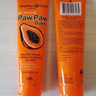 All Natural Paw Paw Balm (Healthy Care, Australia) 2x100g