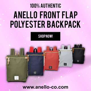 ANELLO Front Flap Polyester Backpack