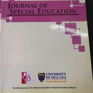 Journal of Special Education(Volume 1,2,3 & 5)