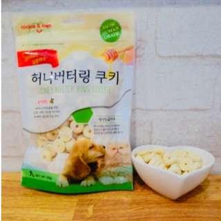 *狗癮* Ocean韓國人氣 蜂蜜奶油曲奇餅(香蕉) 促進腸胃健康 減少寵物肥胖 寵物點心 1包120g