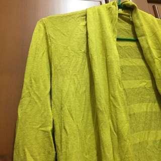 ✅芥末黃針織外套