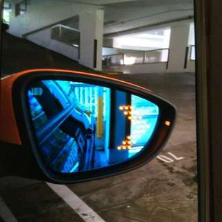 Scirocco Osir anti-glare tinted blue side mirror with led signal light