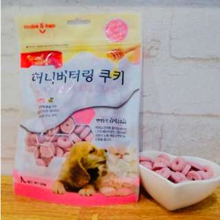 *狗癮* Ocean韓國人氣 蜂蜜奶油曲奇餅(紫薯) 有助於延緩衰老 增強抵抗力的寵物點心 1包120g